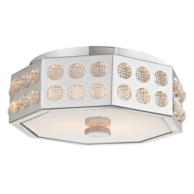 Emeraude 2-Light Semi Flush Finish: Polished Nickel