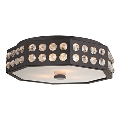 Emeraude 3-Light Semi Flush Finish: Old Bronze