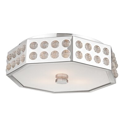 Emeraude 3-Light Semi Flush Finish: Polished Nickel