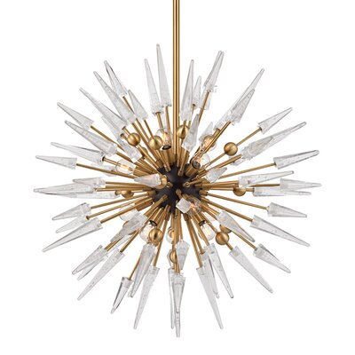 Roesch 12-Light Sputnik Chandelier Finish: Aged Brass