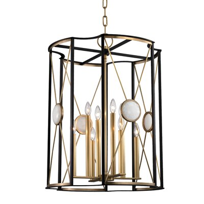 Emile 8-Light Foyer Pendant Finish: Aged Brass, Size: 25.5 H X 18.5 W X 18.5 D