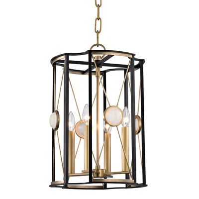 Emile 4-Light Foyer Pendant Finish: Aged Brass