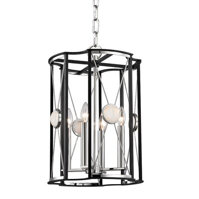 Emile 4-Light Foyer Pendant Finish: Polished Nickel