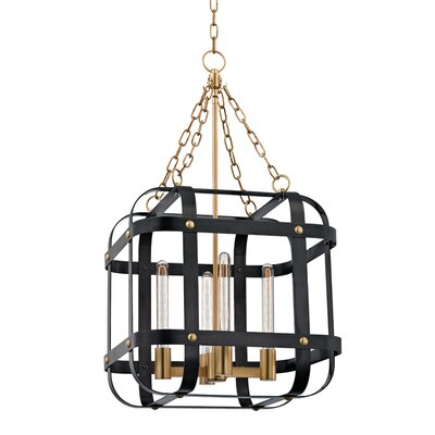 Ellaine 4-Light Foyer Pendant Finish: Aged Old Bronze