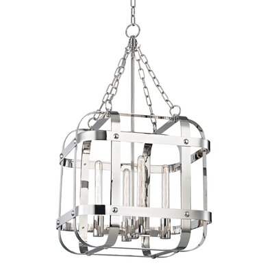 Ellaine 4-Light Foyer Pendant Finish: Polished Nickel