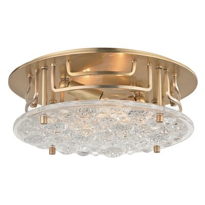 Carterton 2-Light Semi Flush Finish: Aged Brass