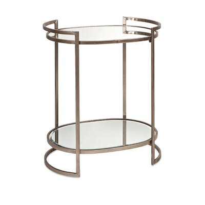 Shick Mirror End Table