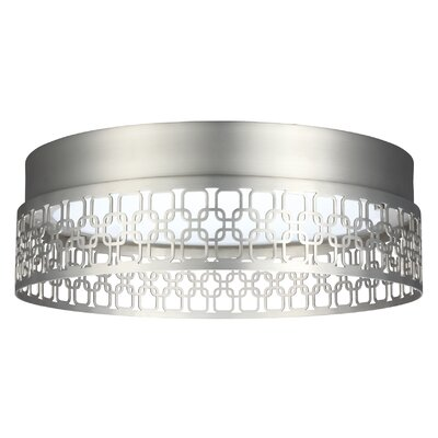 Evesham 1-Light Flush Mount Finish: Satin Nickel