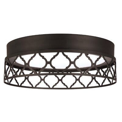 Evesham 1-Light Flush Mount Finish: Oil Rubbed Bronze
