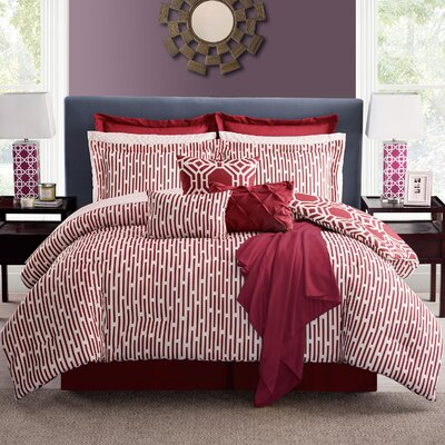 Estinnes Comforter Set Color: Spice, Size: King