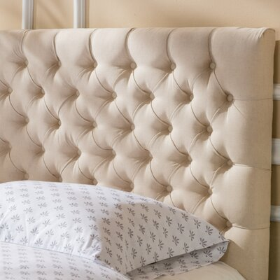 Bennett Queen Upholstered Panel Headboard Color: Beige