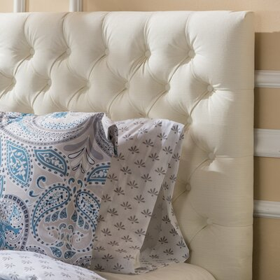 Bennett Queen Upholstered Panel Headboard Color: Ivory