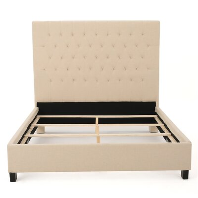Sterling Upholstered Panel Bed Size: King, Finish: Beige