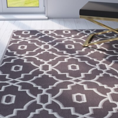 Dwight Dark Gray/Ivory Indoor/Outdoor Area Rug Rug Size: 8 x 10
