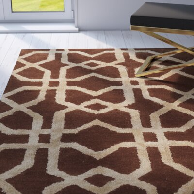 Leone Hand-Tufted Brown/Beige Area Rug Rug Size: 2 x 3