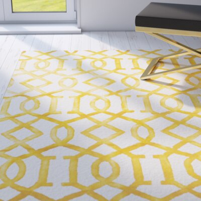 Lorna Ivory/Gold Area Rug Rug Size: Runner 23 x 10
