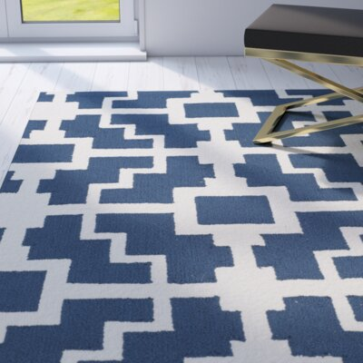 Dalton Navy/Ivory Indoor/Outdoor Area Rug Rug Size: Runner 23 x 8