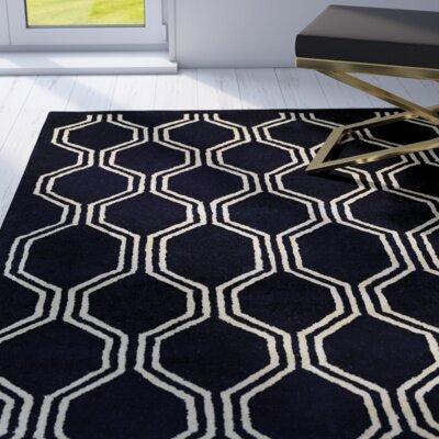 Brewster Hand-Woven Black Area Rug Rug Size: Runner 23 x 710