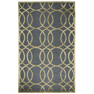 Carpathia Hand-Tufted Gray/Gold Area Rug Size: 5 x 8