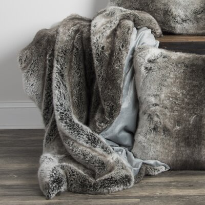 Castleford Faux Fur Throw Color: Taupe