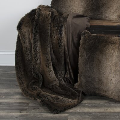 Castleford Faux Fur Throw Color: Brown