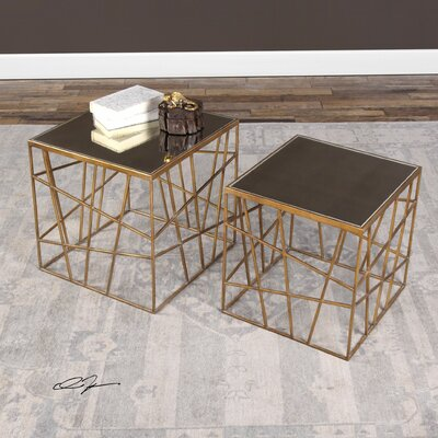 Carmine 2 Piece End Table Set