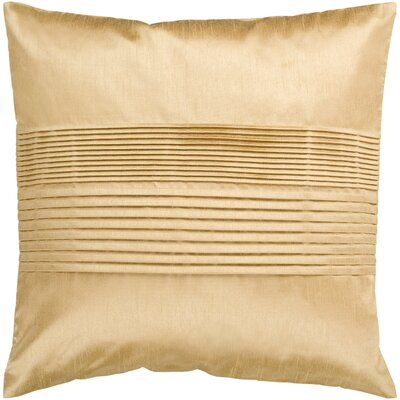Arber Pleated Throw Pillow Cover Size: 22 H x 22 W x 1 D, Color: Gold