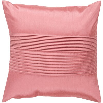 Arber Pleated Throw Pillow Cover Size: 18 H x 18 W x 1 D, Color: Coral