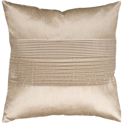Arber Pleated Throw Pillow Cover Size: 18 H x 18 W x 1 D, Color: Neutral