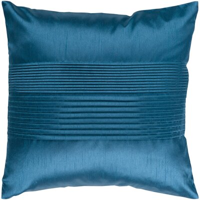 Grullo Solid Pleated Throw Pillow Cover Size: 18 H x 18 W x 1 D, Color: Aqua