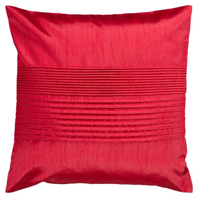 Grullo Solid Pleated Throw Pillow Cover Size: 18 H x 18 W x 1 D, Color: Bright Red