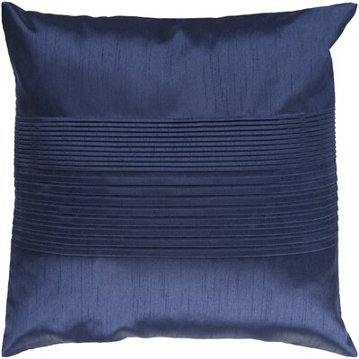 Grullo Solid Pleated Throw Pillow Cover Size: 22 H x 22 W x 1 D, Color: Blue