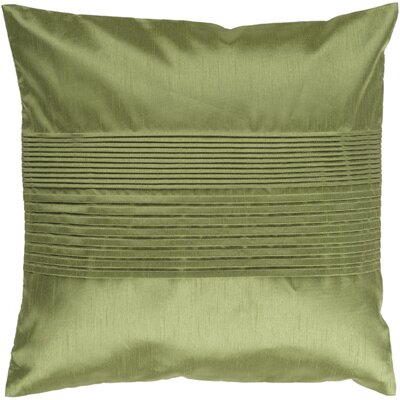 Grullo Solid Pleated Throw Pillow Cover Size: 18 H x 18 W x 1 D, Color: Green