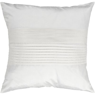 Grullo Solid Pleated Throw Pillow Cover Size: 22 H x 22 W x 1 D, Color: White
