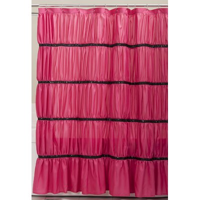 Helmi Shower Curtain Color: Pink