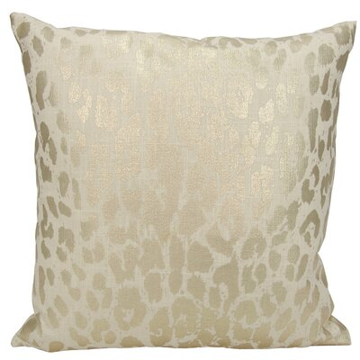 Scarlet Metallic Leopard Throw Pillow Color: Gold