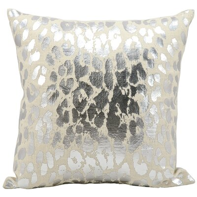 Scarlet Metallic Leopard Throw Pillow Color: Silver