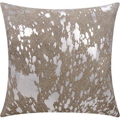 Stacia Metallic Splash Throw Pillow Color: Gray Silver