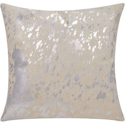 Stacia Metallic Splash Throw Pillow Color: White/Silver
