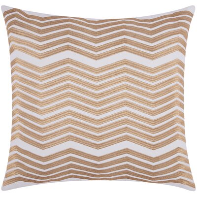 Glaucodot Thick Chevron Throw Pillow Color: Gold