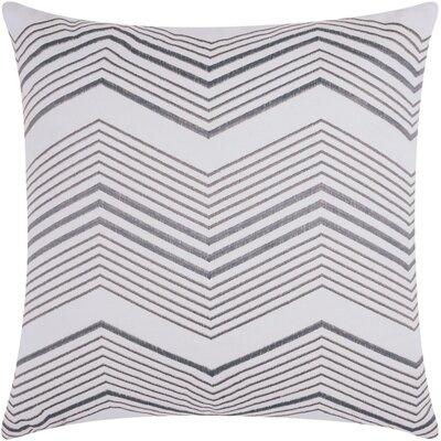Glaucodot Thin Chevron Throw Pillow Color: Silver