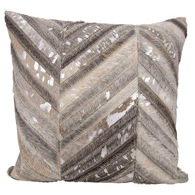 Glaucous Thin Met Chevron Throw Pillow Color: Gray/Silver