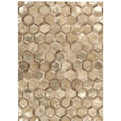 Abra Hand-Woven Gold Area Rug Rug Size: Rectangle 8 x 10