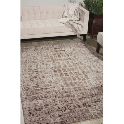 Cherina Hand-Tufted Beige Area Rug Rug Size: 56 x 75