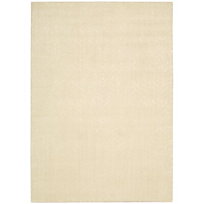 Cherain Bone Light Beige Area Rug Rug Size: 53 x 75