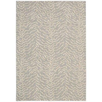 Darcia Quartz Gray Area Rug Rug Size: 36 x 56