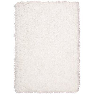 Ripple Hand-Woven Pearl Area Rug Rug Size: 76 x 96