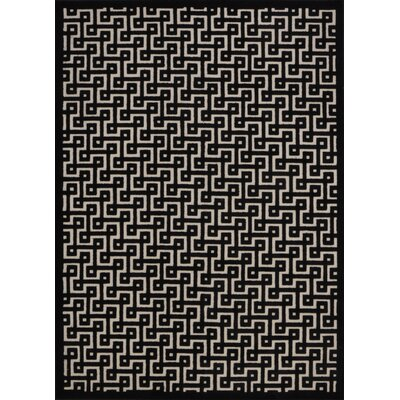 Beaconsfield Black Area Rug Rug Size: 79 x 1010