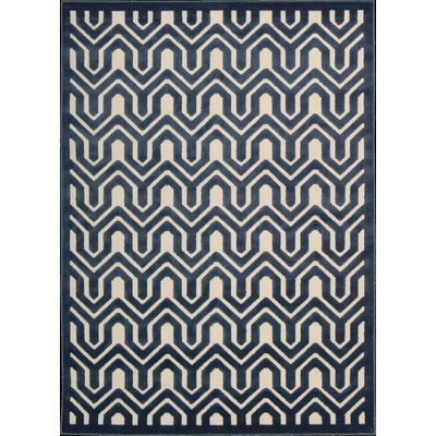 Beaconsfield Ivory/Blue Area Rug Rug Size: Rectangle 36 x 56