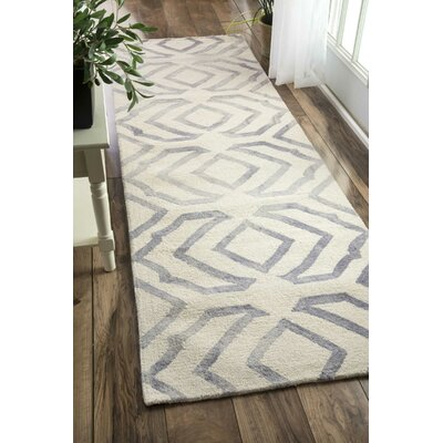 Beatrix Light Gray Area Rug Rug Size: 26 x 8